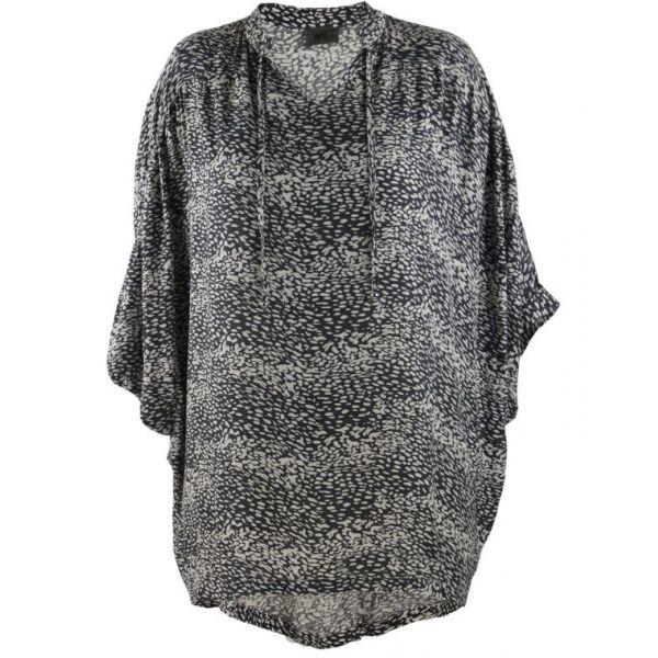 Lang mønstret oversize skjorte