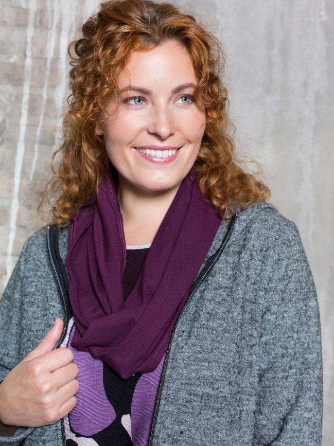 Billede af Dagny halstørklæde i lilla