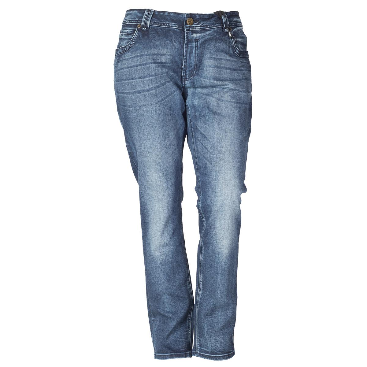 Blå jeans med heavy vask fra veto