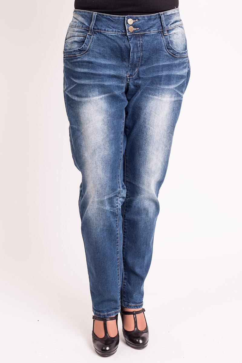 Fede jeans med stretch og dobbelt knap