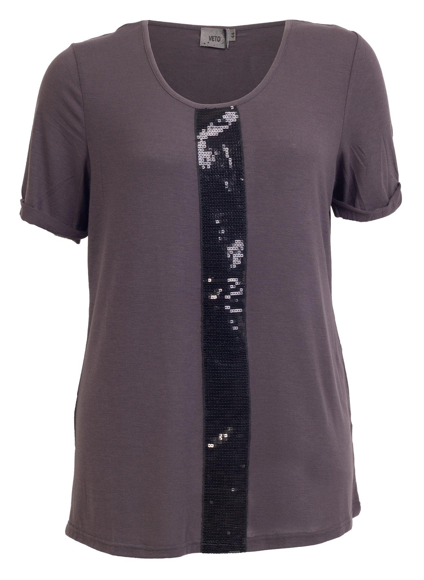 Lilla T-shirt med Pailletter