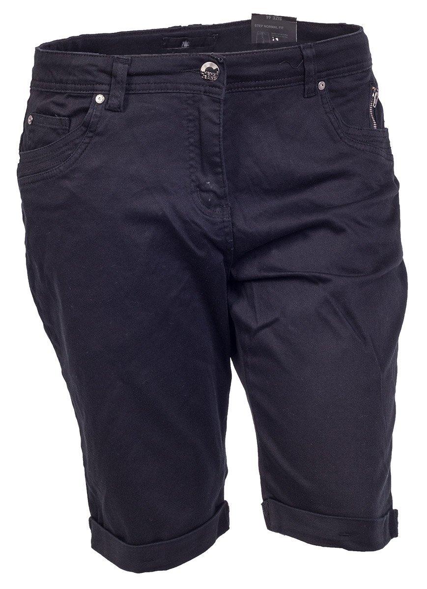 Sorte shorts med opslag