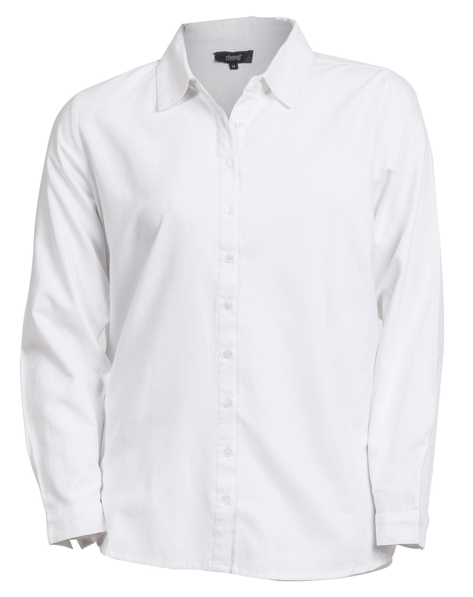 Hvid skjorte med lange ærmer